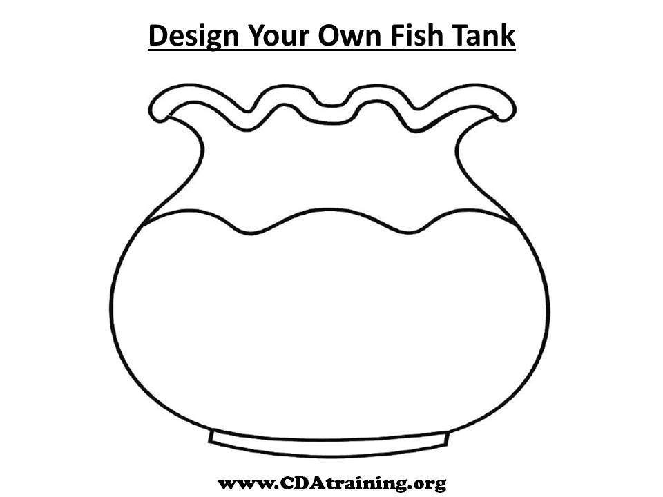 Pets theme for Empty fish bowl coloring page